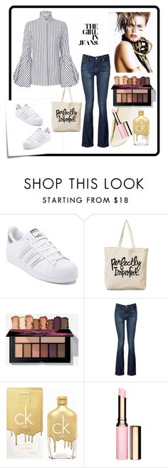 """""""Fashion 101: Turtleneck Blouse"""" by josehline on Polyvore featuring Post-It, adidas, Ilia, 7 For All Mankind and Calvin Klein"""