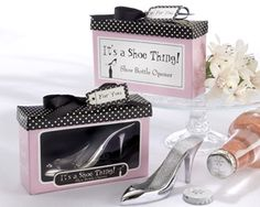 """It's a Shoe Thing!"" Shoe Bottle Opener Wedding Favors at WeddingFavors.org"