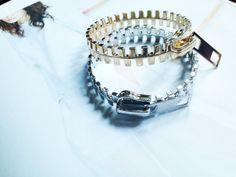 Gold/silver zipper bracelet bangle by PoshyFish on Etsy, $9.99