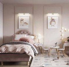 Kids Bedroom Designs, Bedroom Decor For Teen Girls, Home Room Design, Kids Room Design, Home Decor Bedroom, Interior Design Living Room, Living Room Designs, Dream Rooms, Luxurious Bedrooms