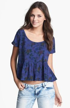Floral peplum top please.