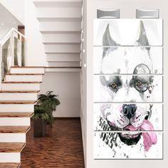Designart 'Funny Dog with Single Lens' Contemporary Animal Glossy Metal Wall Art