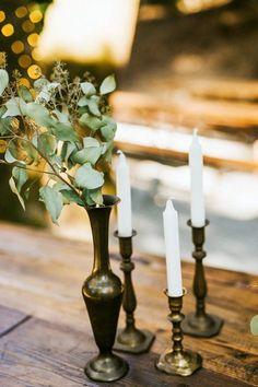 Vintage candlesticks | Image by Seth & Kaiti Photography