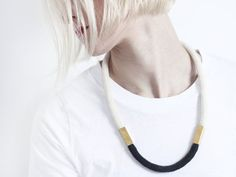 Two Tone  Cord necklace with beads von ChezKristel auf Etsy, €30.00