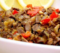 Bopis: Pork entrails simmered in vinegar and spices.