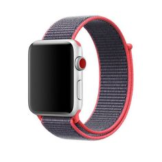 Sport Loop Apple Watch Band, Woven Nylon Strap For Apple Watch Series 1 - Soft, Breathable and Lightweight. Color: Hot Pink Band Material Type: Nylon Clasp Type: Magnetic Buckle Width of Band: 2 cm Compatible For Apple Watch Series 1 - & Buy Apple Watch, Apple Watch Sizes, Apple Watch Bands 42mm, Apple Watch Series 3, Nylons, White Nikes, Apple Inc, Smartwatch, Hibiscus