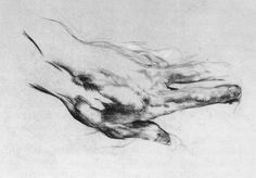 Mikhail Vrubel, The Artist's Left Hand, 1882-83. Black chalk and charcoal on paper, 18.6 x 26.8 cm. The Russian Museum, Saint Petersburg.