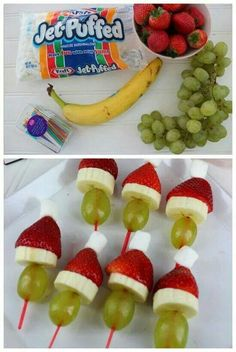 Oh Christmas! It truly is the most Beautiful time of the year. Well, it's my absolute favorite time of the year. Here is a cute and sweet recipe for Grinch Christmas Kabobs! Celebrate the holiday with these yummy Grinch Christmas Kabobs. Christmas Snacks, Xmas Food, Christmas Appetizers, Holiday Treats, Christmas Baking, Holiday Recipes, Grinch Christmas, Grinch Kabobs, Kabob Recipes