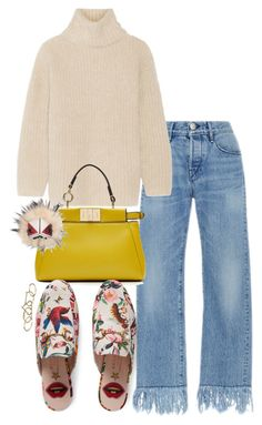 """""""Untitled #1256"""" by malurodz ❤ liked on Polyvore featuring 3x1, Helmut Lang, Fendi, Gucci and Zimmermann"""