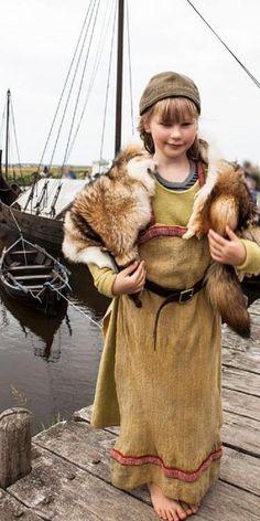 Reenactor girl at Bork-Vikingehavn, DK.