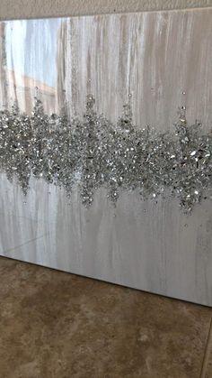 #interior #homedecorideas #gray #art Resin Wall Art, Diy Resin Art, Glass Wall Art, Diy Wall Art, Diy Art, Glitter Wall Art, Glitter Canvas, Small Canvas Art, Diy Canvas Art