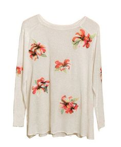 See-through Pullovers with Floral Embroidery - Knit Tops - Pullover - Knitwear - Clothing