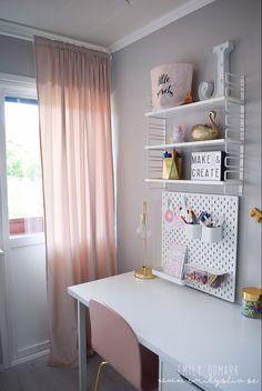 Study Room Decor, Craft Room Decor, Cute Room Decor, Teen Room Decor, Home Office Space, Guest Room Office, Home Office Design, Home Office Decor, Cute Bedroom Ideas