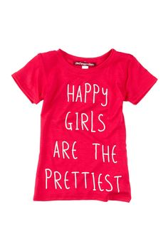 """""""Happy Girls"""" Vintage Short Sleeve Tee - Strawberry Toddler Graphic tee"""