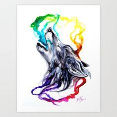 Smoke Signals Art Print by Katy Lipscomb - $15.00