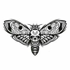 Moths black and white Fashion old fashioned boy names Bmth Tattoo, Lotusblume Tattoo, Tattoo Outline, Tattoo Drawings, Skull Butterfly Tattoo, Insect Tattoo, Moth Tattoo Design, Tattoo Designs, Tattoo Sketches