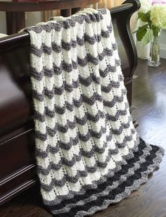 Yarnspirations.com - Bernat Stone's Throw Ripple - Patterns  | Yarnspirations