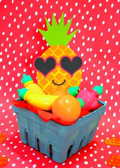 Adorable Pineapple Valentine  Idea and Free Printable! So cute!