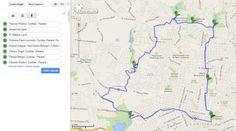 mapa roteiro bike