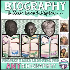 """Pair this project-based learning activity with ANY biography! Students will enjoy researching their person of choice and creating an educational display.This resource 8 Project Templates (WHO WAS & WHO IS) Updated 5 Graphic Detailed """"How To Asse. 4th Grade Writing, 4th Grade Reading, Teaching Writing, Biography Project, Biography Books, 3rd Grade Social Studies, Reading Projects, Project Based Learning, Graphic Organizers"""