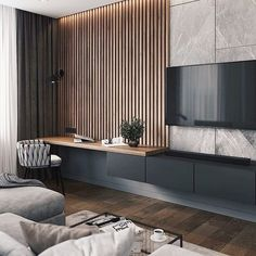 Modern Living Room – cozy home warm House Paint Interior, Room Interior, Home Interior Design, Home Living Room, Living Room Decor, Bedroom Decor, Interior Cladding, Living Room Tv Unit Designs, Suites