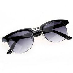 0427794b628 Women s Sun Glasses Retro Oval Dual Horizontal Beam Full Frame ...