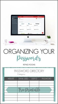 Tackle your password organization in the Organize and Refine Your Home Challenge with Refined Rooms. Learn about the 3 options for managing your passwords and choose the option that works best for you.