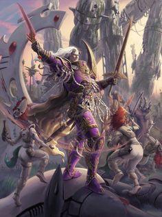 avatar battle discogangsta(jeff_porter) eldar emperors_children fulgrim horus_heresy primarch sword