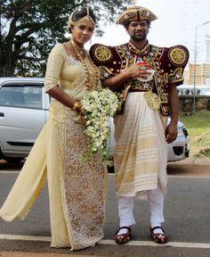Wedding attire in Sri Lanka.