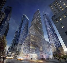 Designed by BIG in New York,United States with surface Images by BIG. BIG has revealed plans for the fourth and final skyscraper planned for the World Trade Center site - the 2 World Trad. One World Trade Center, World Trade Center Pictures, Bjarke Ingels Architecture, Cgi, Architecture Cool, Architecture Visualization, Contemporary Architecture, Big Architects, Ville New York