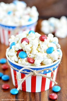 White Chocolate Popcorn with edible gold star glitter