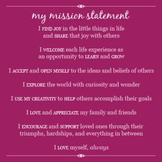 Personal Mission Statements Template Awesome Mission Possible Elembee Leader In Me Mission Statement Template, Mission Statement Personal, Personal Statements, Vision Statement Examples, Mission Possible, Leader In Me, Branding, Finding Joy, Mission Statements