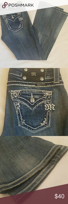 Miss Me Boot Cut Jeans These jeans are in excellent used condition. There are no tears, stains or fraying on the hems. The inseam is 30 inches. Miss Me Jeans Boot Cut