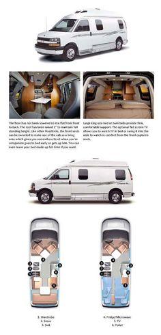 Roadtrek Motorhome, RV Camper Van, Class B Motor Homes