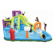 Things will get wet and wild this summer with this awesome Grand Rapids Slide ân Jumper Water Slide from Sizzlin' Cool. This inflatable water slide comes with a Water Slide Bounce House, Blow Up Water Slide, Water Slides, Backyard Swing Sets, Online Shopping Deals, Lol Dolls, Things That Bounce, Fun Things, Summer Fun