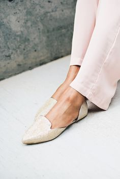 Jasmine Flats #accessories #casual #dorsay #fashion-shoes #flats #formal #gilded #gold #jasmine #princess #shoes #slipper #sophisticated #sparkle #women #womens