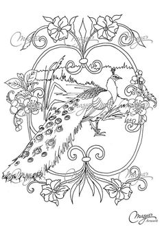 Masjas Peacock Coloring Page made by Masja van den Berg - featuring 1 hand-drawn design for you to bring to life with color! Do you love the