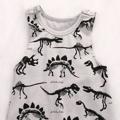 Amazon.com: Summer Baby Boys Animal Printed Sleeveless Romper One-piece Bodysuit Jumpsuit Outfits Grey (80cm/3-6 Months): Clothing
