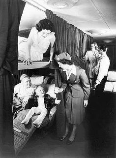 Pan Am sleeper cabins - omg my mother gave us sleeping pills!!!  We stopped in the Azores, Ireland...