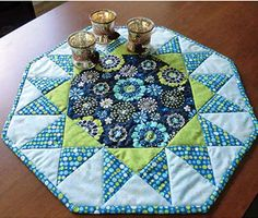 Sunburst Quilted Table Topper Pattern Idea for quilt
