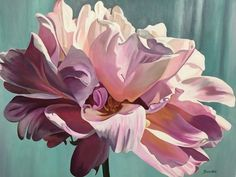 Flower Painting Canvas, Peony Painting, Watercolor Paintings, Canvas Art, Abstract Flowers, Watercolor Flowers, Resin Wall Art, Botanical Drawings, Painting Inspiration