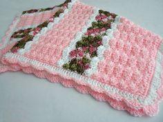 Crochet Pattern - Cameron Baby Afghan Babyghan - Throw Blanket or Lapghan Pattern - PDF Format  Crochet this beautiful baby blanket which is