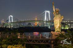 *** Best of mythirdblog.de *** Fernweh-Fotos - einfach so! Hier: Blick auf die Rainbow-Bridge von Odaiba aus (Tokio/Japan)
