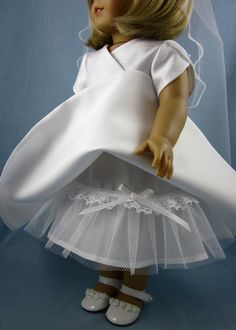 First Communion Dress fits American Girl Tea by SewMyGoodnessShop