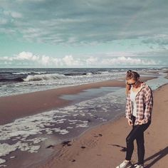 🌅🌊⚓ #polishgirl #balticsea #summer #pretty #beach #sand #sea #szczecin #poland #me #waves