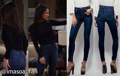 I'm a Soap Fan: Sam Morgan's Blue Skinny Jeans - General Hospital, Season 53, Episode 164, 11/18/15, Kelly Monaco, #GH Fashion, Wardrobe worn on #GeneralHospital