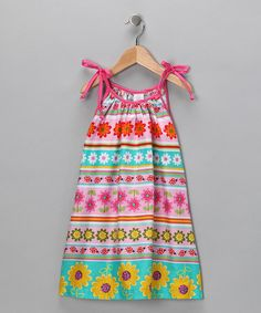 Take a look at this Daisy Stripe Swing Dress - Toddler & Girls by Rainbow Hues: Girls' Dresses on #zulily today!