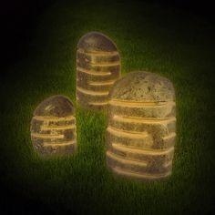 Stein-Leuchten / stone lamps / Gartenlampen / garden lamps Stone Lamp, Garden Lamps, Light Decorations, Home Decor Inspiration, Light Fixtures, Stones