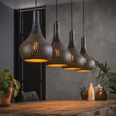 When searching for a lamp for your house, your options are almost limitless. Get the perfect living room lamp, bed room lamp, desk lamp or any other style for your selected place. Industrial Ceiling Lights, Industrial Light Fixtures, Industrial Lamps, Industrial Living, Drop Lights, Hanging Lights, Hanging Lamps, Dining Lighting, Home Lighting