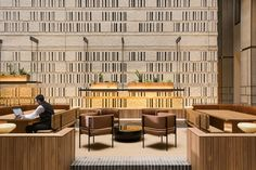 Built With Brickworks 161 Collins Street Melbourne By Bates Smart Yellowtrace 18 Masonry Blocks, Glass Curtain Wall, Restaurants, Timber Furniture, Clever Design, Design Design, House Design, Lobbies, Brickwork